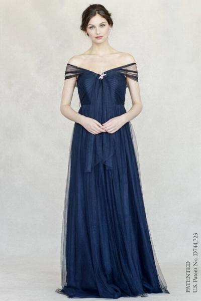 JENNY YOO Bridesmaid Tüllkleid 'ANNABELLE' in Navy