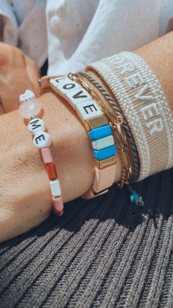 "Armband Bridetribe, ""LOVE"" - Mosaik Bracelet"