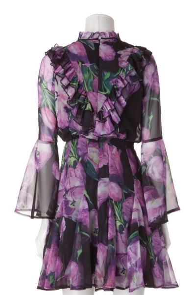 JAMIE – florales Rüschen-Kleid