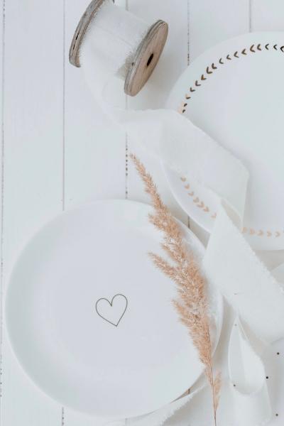 GOLDENES HERZ – Frühstücksteller