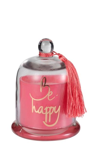 """BE HAPPY PINK - Duftkerze Glocke """"Happy"""""""