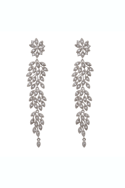 LILY AND ROSE Ohrringe 'LAUREL' in Crystal Silver