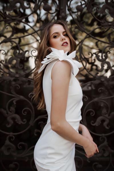 GOSIA – Standesamtkleid mit Blüten