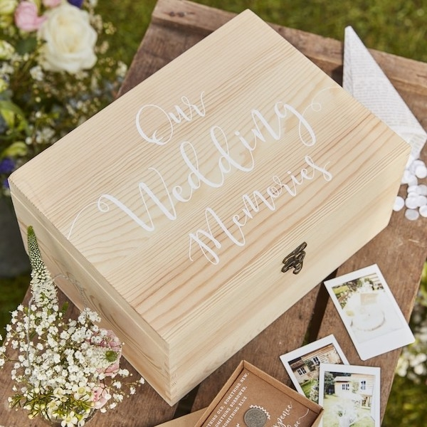 OUR WEDDING MEMORIES – Memory Box aus Holz