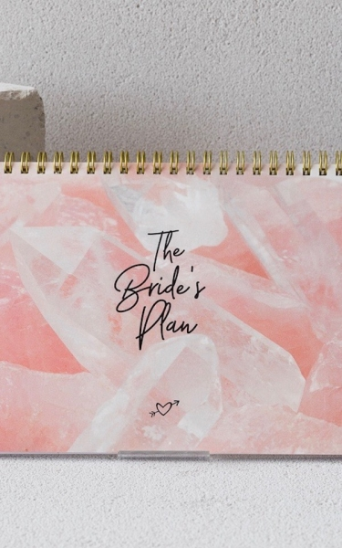 Wochenplaner 'The Bride's Plan' in Rosé