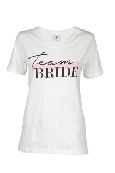 IAY Bridal T-Shirt mit Print 'Team Bride' in Ivory