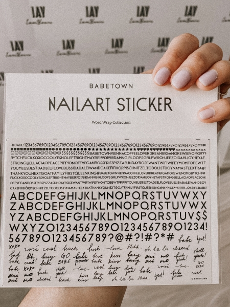 "Babetown Nagelsticker ""Word Wrap Collection"""