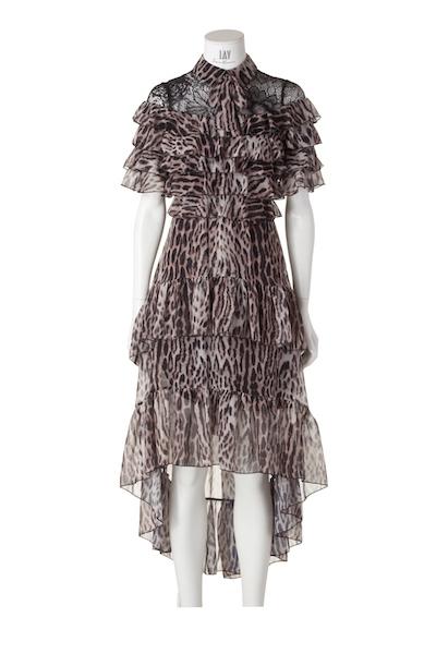 FOREVER UNIQUE Midi-Kleid 'KALA' im Leo-Print