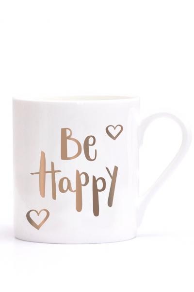 BE HAPPY – Porzellantasse