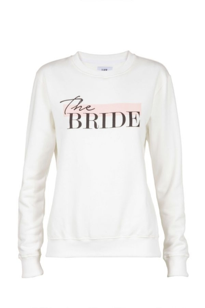 IAY Bridal Sweatshirt mit Print 'The Bride' in Ivory