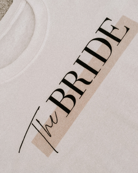 THE BRIDE  – Bridal T-Shirt mit Print