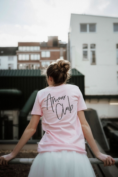 JE T'AIME/ AMOUR CLUB - T-Shirt in rosé