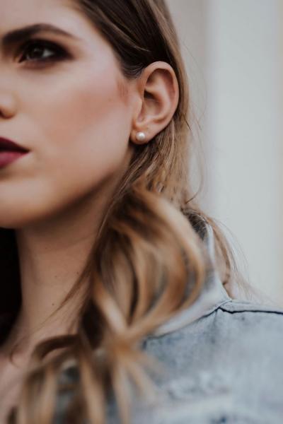 SIMPLE PEARLS - schlichte Ohrringe mit Perlen