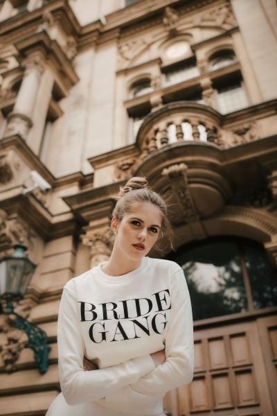 BRIDE GANG - Bridal Sweatshirt mit Print in ivory