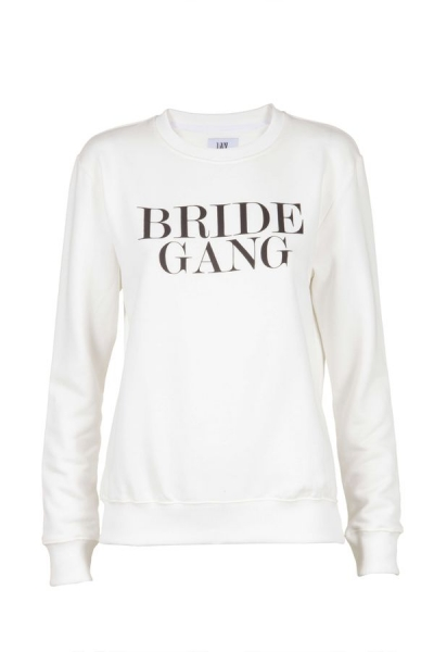 IAY Bridal Sweatshirt mit Print 'Bride Gang' in ivory