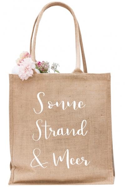 SONNE, STRAND & MEER – Jute Shopper