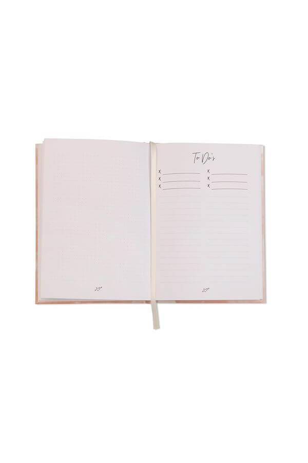 Notizbuch 'The Bride's Notes' in Rosé