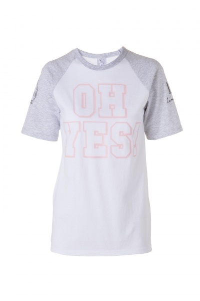 OH YES! - T-Shirt im College-Style
