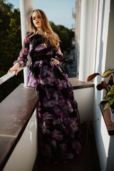 WILLOW – florales Maxi-Kleid