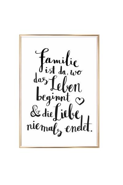 FAMILIE – Wandbild