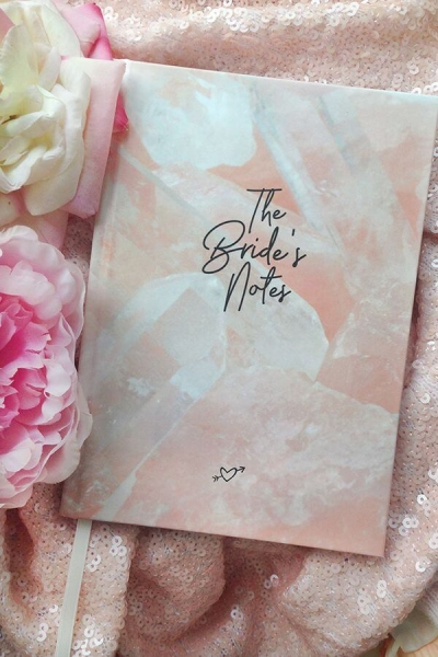 Notizbuch 'The Bride's Notes' in Rosé