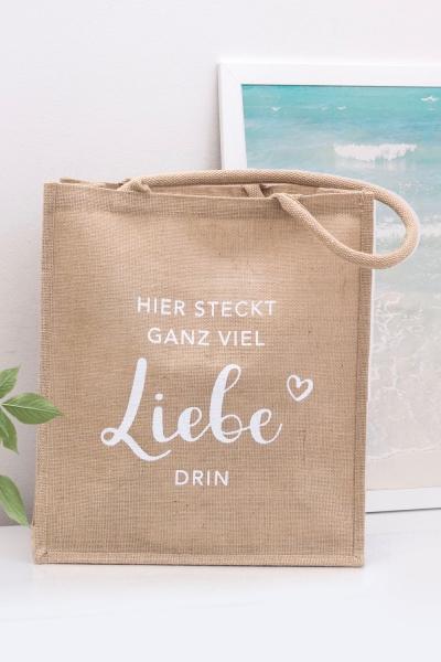 LIEBE – Jute Shopper