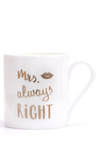 MRS ALWAYS RIGHT – Porzellantasse