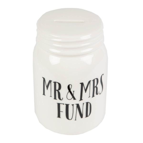 Mr & Mrs Spardose in Weiß