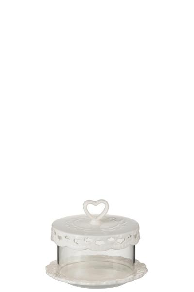 CAKE PLATE SMALL - Tortenplatte mit Herz Verzierung