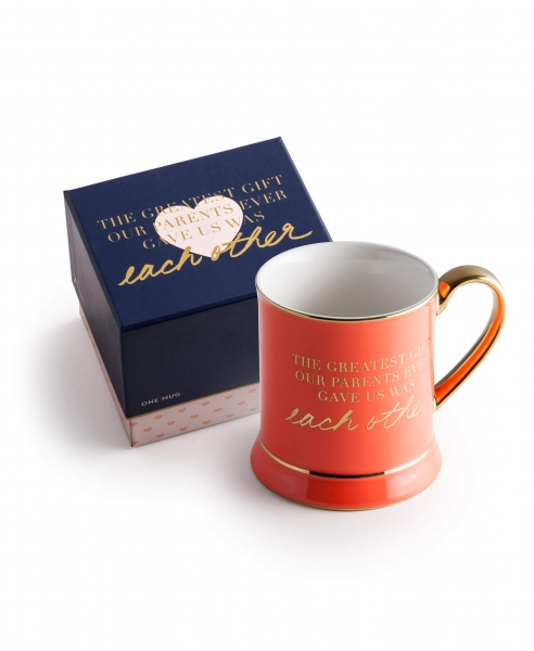 """GREATEST GIFT"" TASSE IN ROT/GOLD/WEISS"