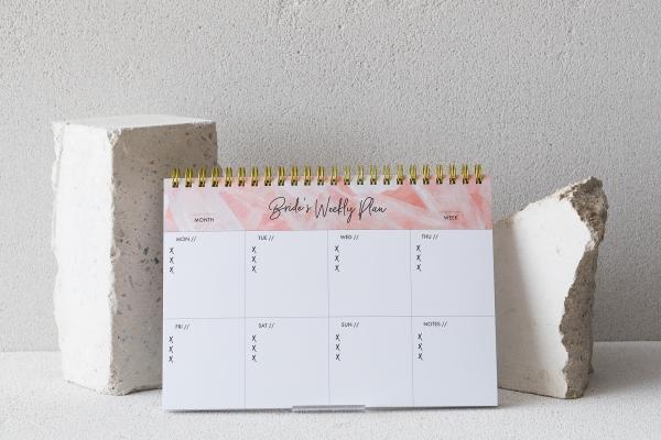 Wochenplaner 'The Bride's Plan' in Rosé