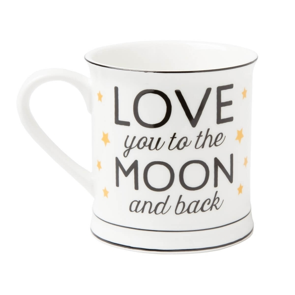 'Love you to the moon and back' Tasse mit Sternen