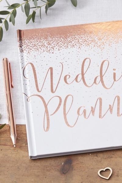 WEDDING PLANNER – Hochzeitsplaner in Roségold/ Weiß