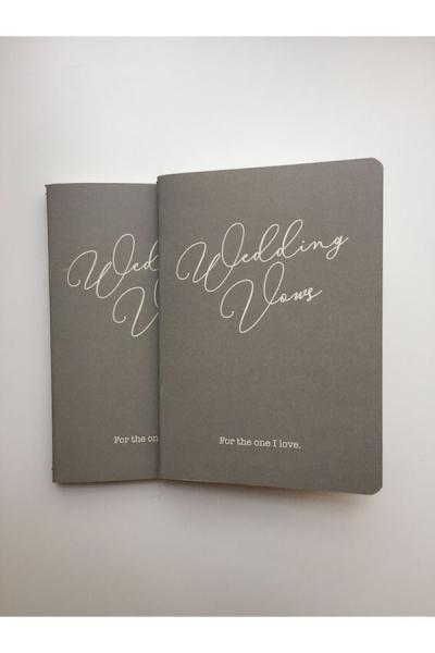"""Heft Eheversprechen """"Wedding Vow"""" in Grau/Weiß - 2 Stück"""