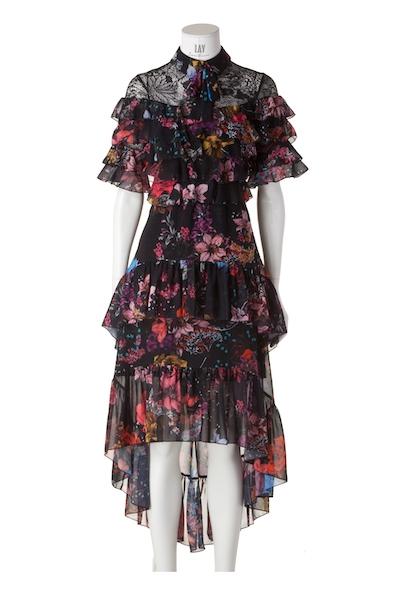 FOREVER UNIQUE florales Midi-Kleid 'APRIL'