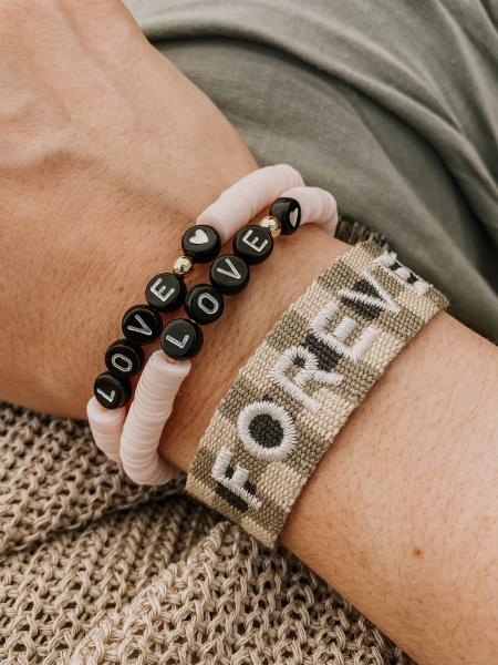 """Armband Bride Tribe, """"FOREVER"""" - Bracelet- kariert"""