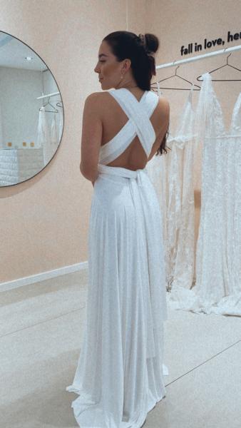 WHITE – Classic Wickelkleid I Standesamt