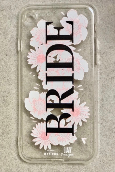 iPhone-Case 'BRIDE' mit Blumenprint
