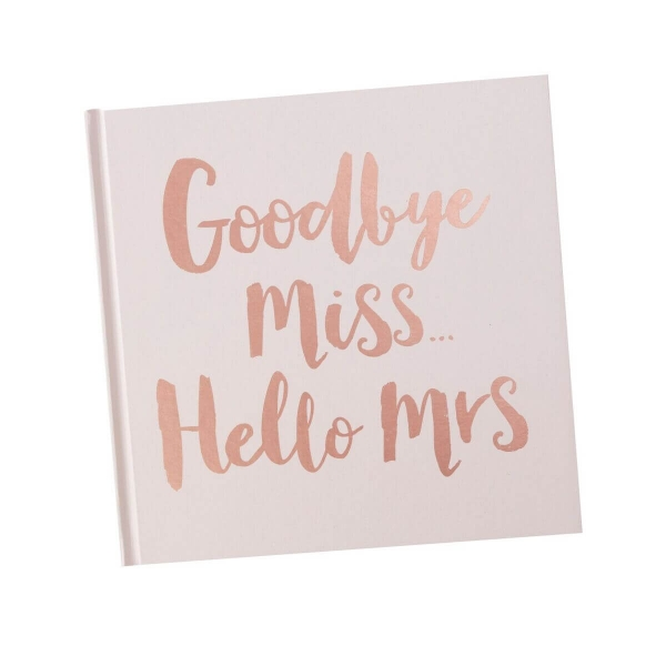 "ADVICE BUCH ""GOODBYE MISS HELLO MRS"" IN ROSÉGOLD"