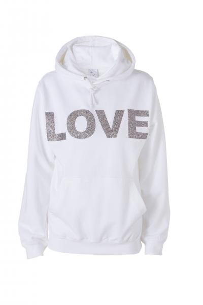 LOVE – Hoodie in weiß