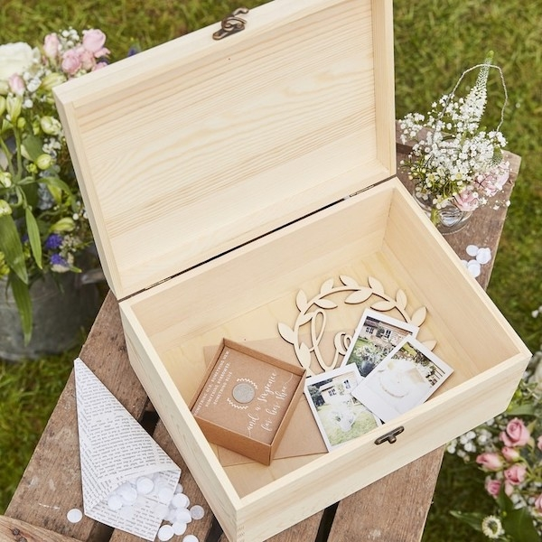 OUR WEDDING MEMORIES – Memory Box aus Holz