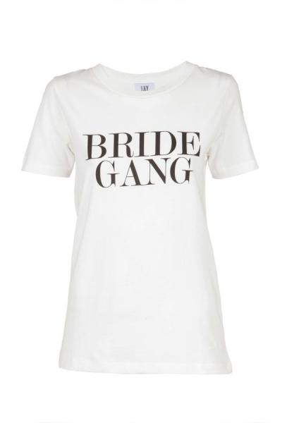 IAY Bridal T-Shirt mit Print 'Bride Gang' in Ivory